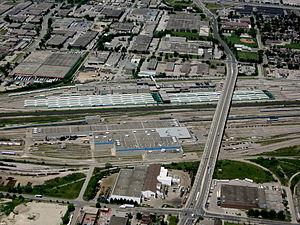Willowbrook Yard - GO Transit yard at the top and Via Rail facility below