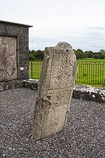 Gallen Priory Early Monastic Site Pillar West Face from the side 2010 09 10.jpg