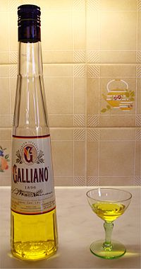 photo of Galliano, A herbal infused liqueur.