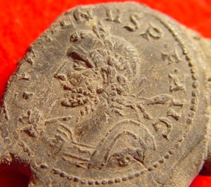 Gallienus - Gallienus depicted on a lead seal