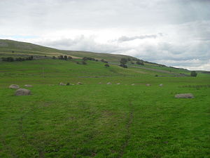 Gamelands stone circle - Image: Gamelands stone circle 2