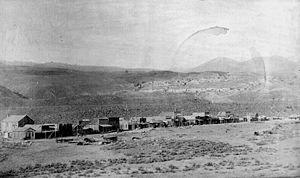 Gardiner, Montana - Image: Gardiner 1887