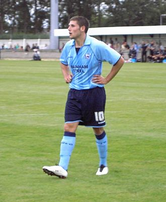 Gary Hooper - Hooper playing for Scunthorpe United in 2009