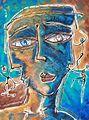 Gaston Charó, Galeria de arte en la 5ta avenida de Playa del Carmen. Obras sobre madera de Gastón Charó. Arte en Playa del Carmen.jpg