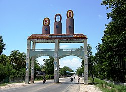 Entrance gate to Les Cayes
