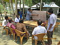 Gathering in a meeting of villagers in an Bangladeshi village 2015 40.jpg