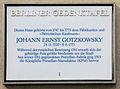 Gedenktafel Brüderstr 13 (Mitte) Johann Ernst Gotzkowsky.JPG