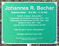 Gedenktafel Ludwig-Lesser-Promenade (Bad Saarow) Johannes R Becher.jpg
