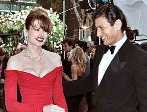 Jeff Goldblum - Goldblum with former spouse Geena Davis in 1990