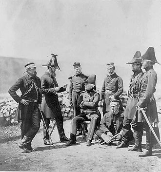George Brown (British Army officer) -  General Brown and his staff in the Crimea.
