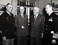Gen Matthew Ridgway, Gen Paul Ely, Secretary of Defense Charles Wilson and Adm Arthur Radford 22 March 1954.jpg