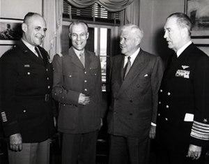 Paul Ély - Gen Matthew Ridgway, Gen Paul Ely, Secretary of Defense Charles Wilson and Adm Arthur Radford 22 March 1954