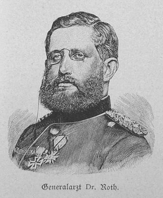 Generalarzt - Generalarzt D.M. Roth, here as Generalmajor of the Medical Corps, ca. 1885.