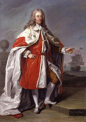 George Byng, 1st Viscount Torrington - Admiral of the Fleet George Byng, 1st Viscount Torrington by Jeremiah Davison in 1733