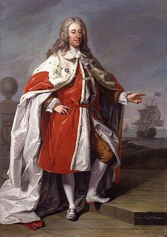 George Byng, 1st Viscount Torrington - Admiral of the Fleet George Byng, 1st Viscount Torrington by Jeremiah Davison in 1733