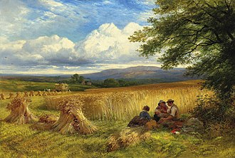 George Cole (artist) - Harvest Rest by George Cole, 1865