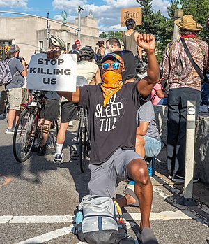 George Floyd protest in Grand Army Plaza June 7 (73353).jpg