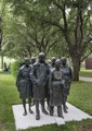 "George Segal's 1983 bronze creation, ""Rush Hour,"" at the Nasher Sculpture Center is a museum that opened in 2000 in Dallas, Texas LCCN2014633082.tif"