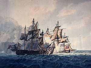 Percival Keene - Image: George Webster Action between His Majesty's Sloop, Bonne Citoyenne, and the French frigate, La Furieuse