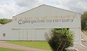 Georgia Marble Company - Former Georgia Marble Company plant in Nelson.