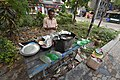 Ghanashyam Misra - Litti Vendor - Padmapukur Water Treatment Plant Road - Howrah 2018-03-24 0192.JPG