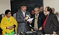 Ghulam Nabi Azad launching the Cervical Cancer Diagnostic Kit- AV Magnivisualizer- developed by Institute of Cytology and Preventive Oncology, in New Delhi. The Ministers of State for Health & Family Welfare.jpg