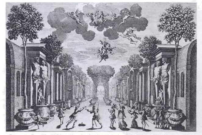 Giacomo Torelli - Cenario para Andromède de Corneille
