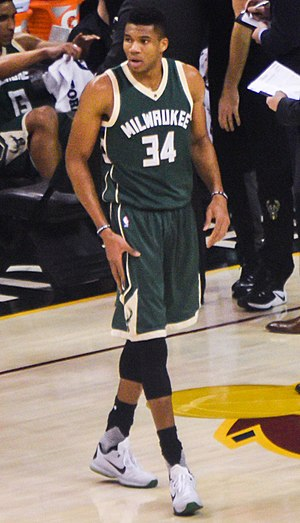 Giannis Antetokounmpo - Antetokounmpo with the Bucks in December 2016