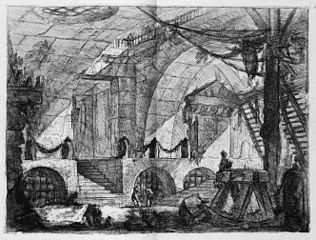 Le Carceri d'Invenzione, plate XII: The Sawhorse