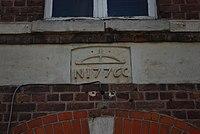 Glabbeek dorp - café Gildenhuis van 1920 - reliëf in voorgevel