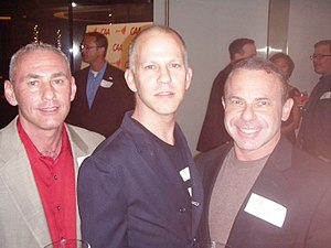 Ryan Murphy (writer) - (l-r) Governor appointee Don Norte, Glee co-creator Ryan Murphy, and Norte's husband, gay activist Kevin Norte, at Spring Time G.L.A.A.D. 2010's Charitable Event in Century City, Los Angeles, California.