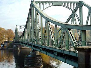 Glienicke Bridge - Glienicke Bridge, looking east.