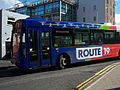 Go North East bus 4971 Scania L94 Wrightbus Solar NK53 UNX Route 19 livery in North Shields 9 May 2009 pic 4.jpg