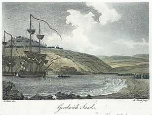 Battle of Fishguard - French troops surrender to British forces on Goodwick sands