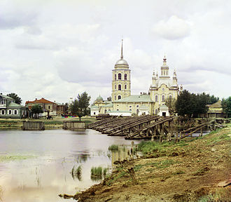 Shadrinsk - Shadrinsk Cathedral, photographed by Sergey Prokudin-Gorsky