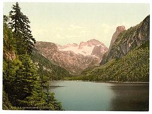 Gosau - Image: Gosausee mit Dachstein um 1900