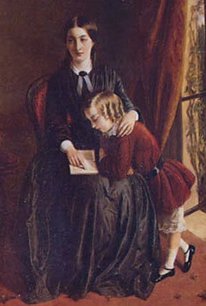 Thoughts on the Education of Daughters - Detail from Rebecca Solomon's The Governess (1851)