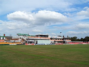 Leicestershire County Cricket Club - The pavilion end.