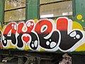 Graffiti sur les wagons de l'ecomusée de Marquèzes 02.jpg
