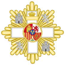 Grand Cross of the Military Merit (Spain) - White Decoration.svg