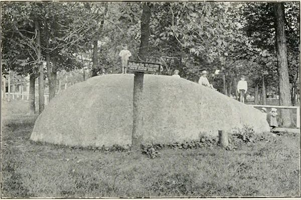 Granite Bowlder at Nora Springs - History of Iowa.jpg