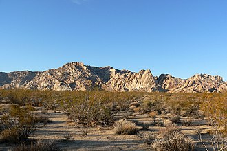 Granite Mountains (California) - Late afternoon view from Kelbaker Road