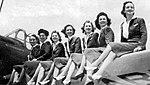 Greenville Army Airfield - Vultee BT-13 Cadet Wives on Wing.jpg
