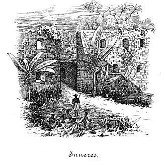 Brandenburger Gold Coast - Image: Großfriedrichsburg 1884 Ansicht Fortinneres 300dpi