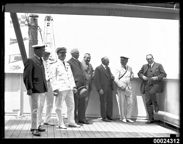 File:Group portrait with eight men on board RMS ORSOVA, including Stanley Bruce and Lord Stonehaven (8390574071).jpg