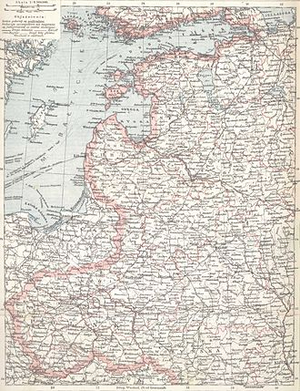 Lithography - A 1902 lithograph map (original size 33×24 cm)