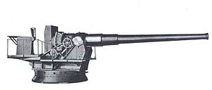 8-inch Mk. VI railway gun - 8-inch Navy MkVIM3 gun on barbette mount M1A1, as used by the Army in coast defense.