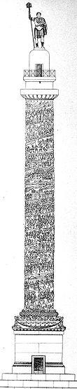 ricostruzione ideale della colonna di Arcadio.