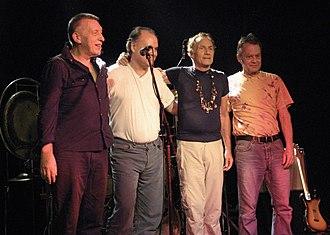 Guru Guru - From left: Hans Reffert, Peter Kühmstedt, Mani Neumeier, Roland Schaeffer (2007)