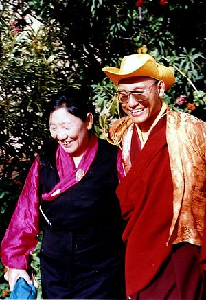 Gyalwang Drukpa - The Gyalwang Drukpa with his mother in Alice Springs, Australia. 1991